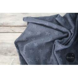 Stepp-Sweat Quilt, Stars - dunkelblau