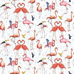 Baumwolljersey - Flamingo Digitaldruck