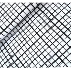 Baumwolljersey - Netz, schwarz/weiß
