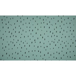 Baumwolljersey - Raindrops, dusty mint