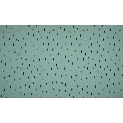 Baumwolljersey - Raindrops, dusty mint