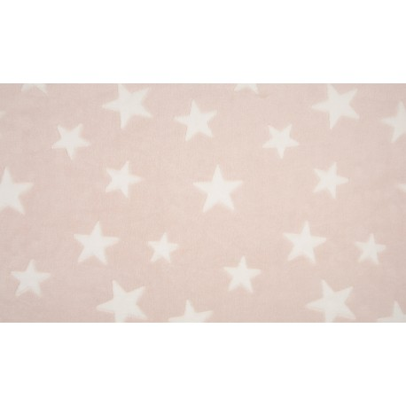 Fleece Jacquard Print Sterne - rosé