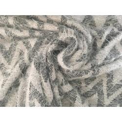 Strick Cosila Zigzag, Chevron - grau
