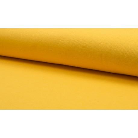Feinstrick Bündchen glatt, gelb