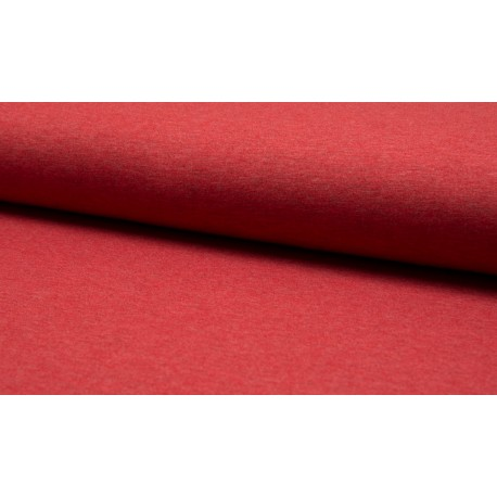 Poly Jersey meliert - rot
