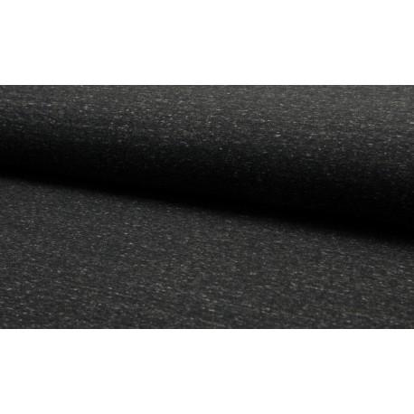 Sweat Melange - schwarz