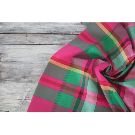 Baumwolle - Madras check, pink