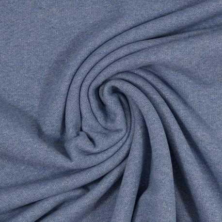 Baumwollsweat Strick Malte, blau
