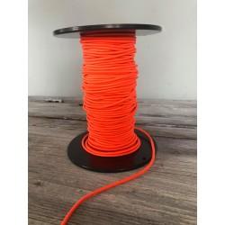 Gummikordel glänzend 3mm, neon orange