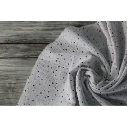Musselin Baumwolle - Mini Dots, weiß