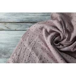 Musselin Baumwolle - Mini Dots, rosé