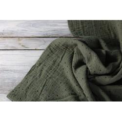 Musselin Baumwolle - Mini Dots, khaki