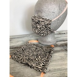 Behelfs-Bedeckung - Zebra