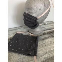 Behelfs-Bedeckung - grau/silber