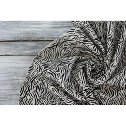 Baumwolljersey - Zebra, sand