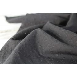 Baumwolle - schwarz bestickt