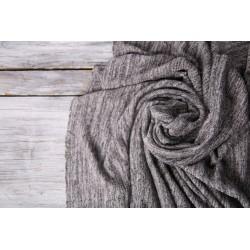 Jersey Strick - melange schwarz