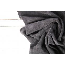 Baumwollcord, Feincord Babycord - schwarz