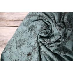 Happy Fleece - Dusty Mint Flowers