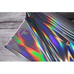 Regenjackenstoff metalic silber