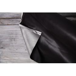 Lederimitat Doupleface schwarz/silber