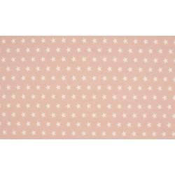 Baumwolljersey - rosé / weiße Sterne