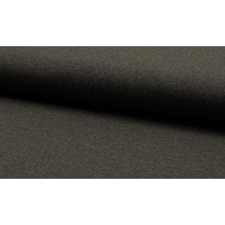 Baumwolljersey - dunkelgrau melange