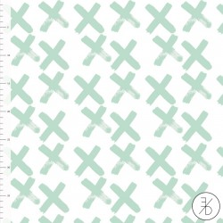 Bio-Baumwolljersey - Crosses mint