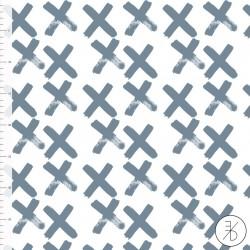Bio-Baumwolljersey - Crosses blau